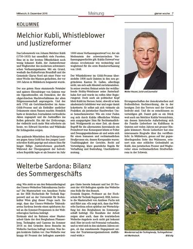 Melchior Kubli, Whistleblower und Justizreformer