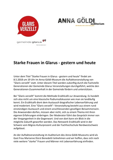Starke Frauen in Glarus